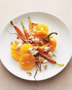 Röstitud maguspiprad porgandite ja apelsinidega