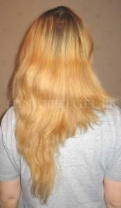Juuksed peale juukseseerumit