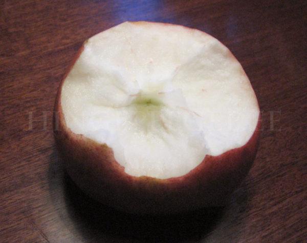 Kui õuna süüa õigesti, siis õunasüdant ei eksisteeri...