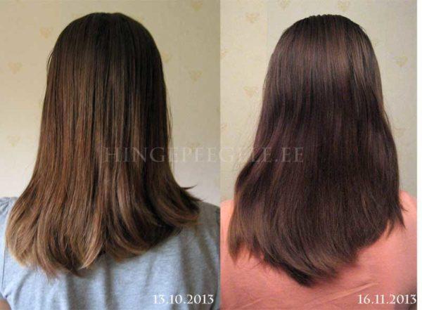 Tütre juuksed enne ja pärast